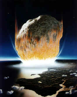 Impression of an asteroid impact