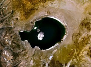 Mono Lake viewed by Landsat satellite