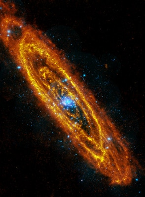 Andromeda galaxy is an electric sight