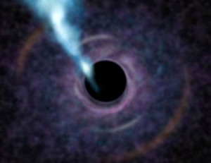 Astronomers weigh monster black hole