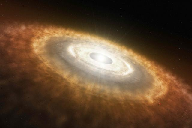 candy floss clouds. whirling cloud of gas and