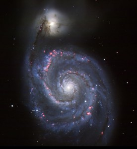 Supernova flares in Whirlpool Galaxy